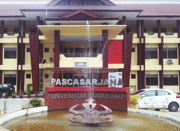 Gedung Kuliah Beberapa Jurusan Program Pascasarjana di UNTAD Periode 2021/2022