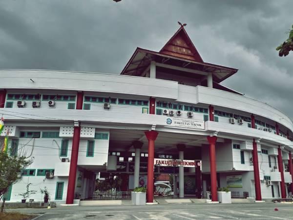 Gedung Perkuliahan Beberapa Jurusan di Fakultas Teknik UNRI 2020