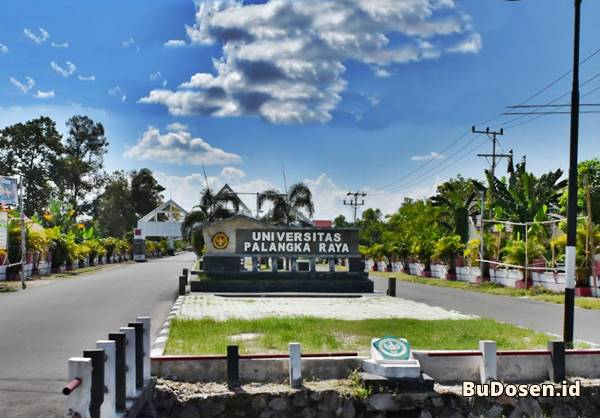 Jalan Masuk Utama Ke Kampus Perkuliahan Universitas Palangka Raya