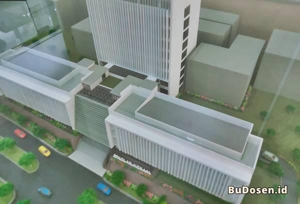 Rancangan Gedung Baru Sekolah Vokasi (D3 & D4) di UNDIP Semarang